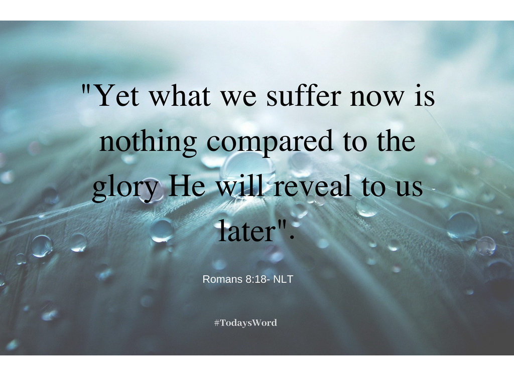 """""""Yet what we suffer now is nothing compared to the glory He will reveal to us later"""". - Beyond Retiring"""