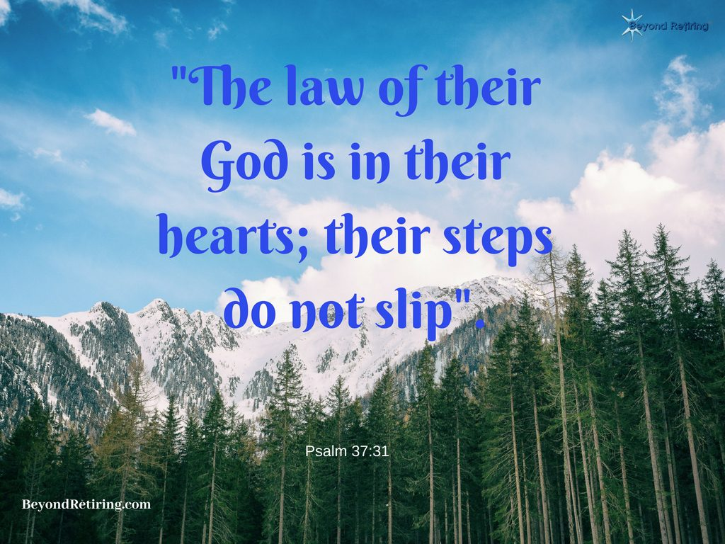 The law if their God is in their hearts - Today's Word - Beyond Retiring