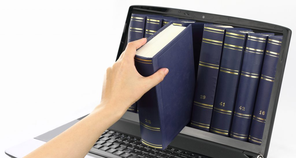 Laptop computer with books