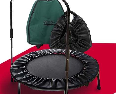 Tri-Fold Pro Cellerciser Plus Rebounder with Balance Bar & Dave Hall Group Coaching