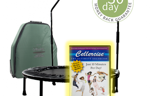 Tri-Fold Pro Cellerciser Rebounder w/ Balance Bar & Workout DVD